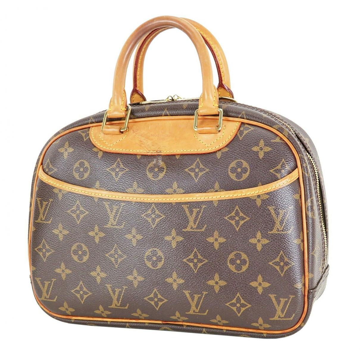 Louis Vuitton Trouville Handtasche in  Braun Leder