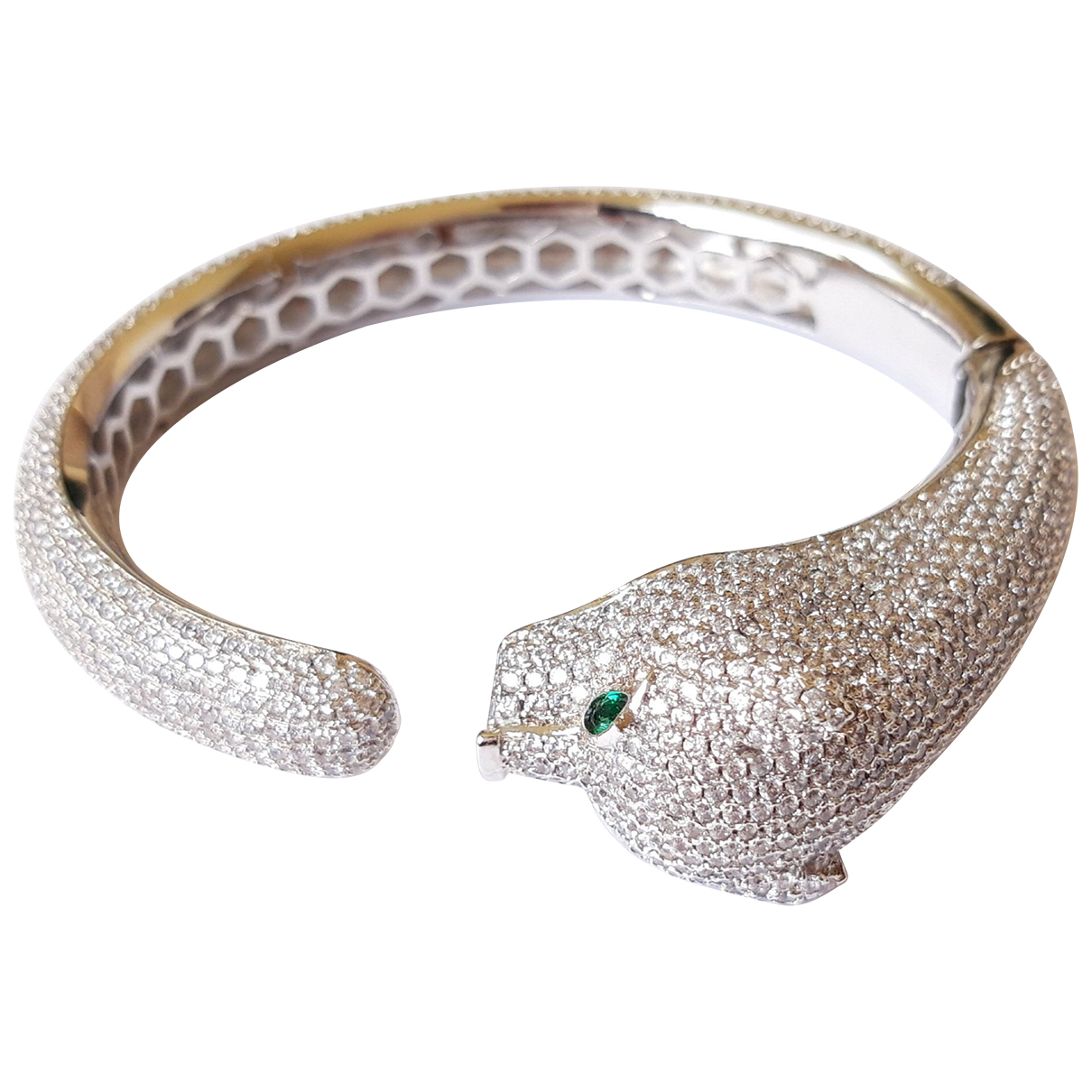 Non Signe / Unsigned Motifs Animaliers Armband in  Silber Metall