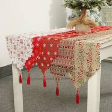 1pc Christmas New Year Ornament Table Runner