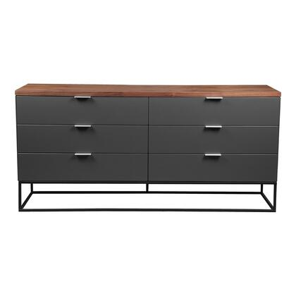 Leroy Collection ER-2073-03 Dresser with Metal Base in Gray