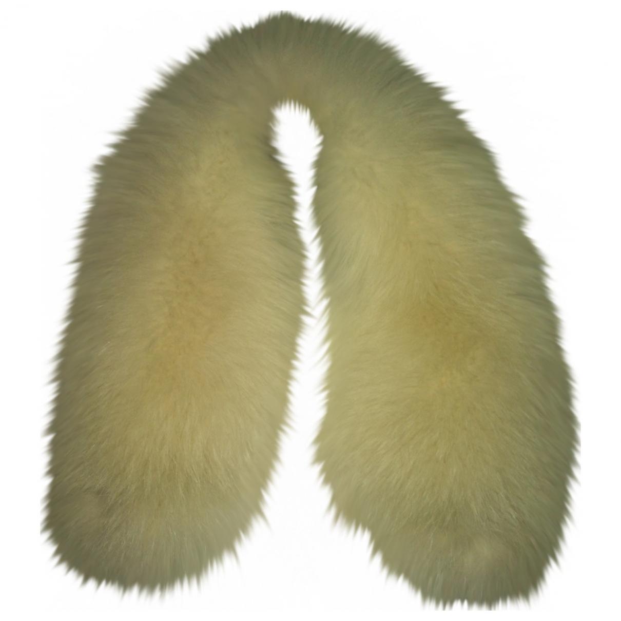 Versace - Foulard   pour femme en renard - blanc