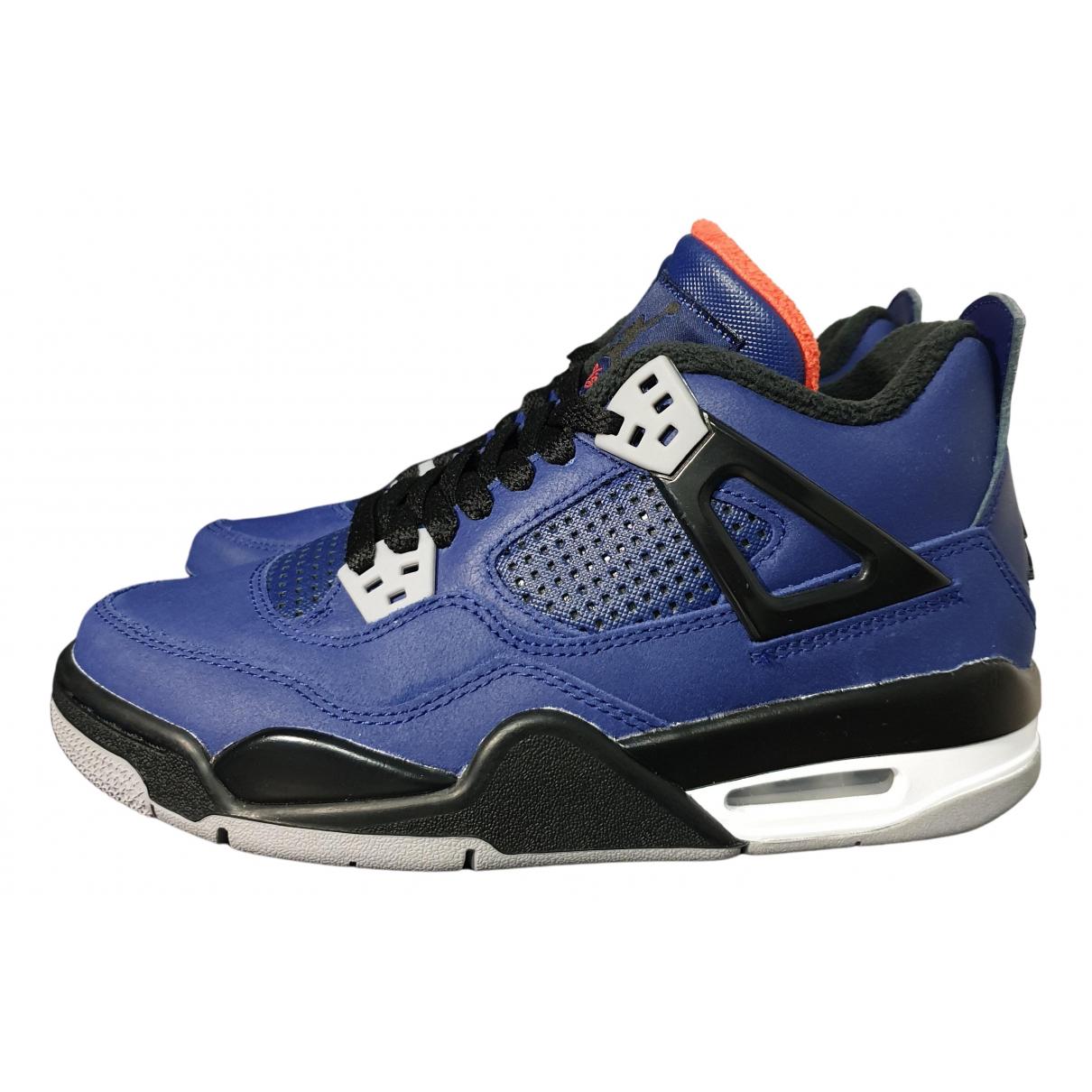 Jordan Air Jordan 4 Sneakers in  Blau Leder