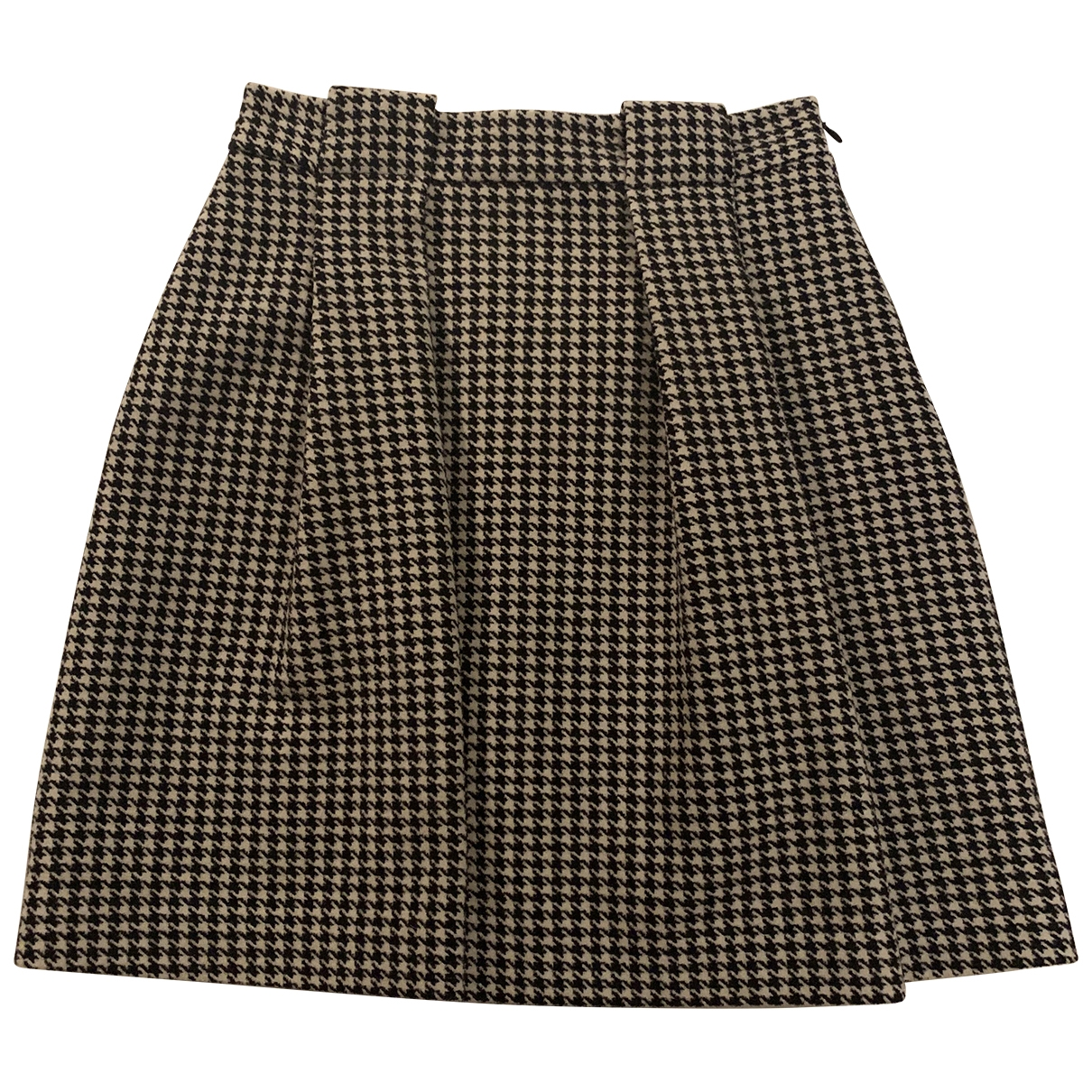Non Signé / Unsigned \N Black Wool skirt for Women 40 IT