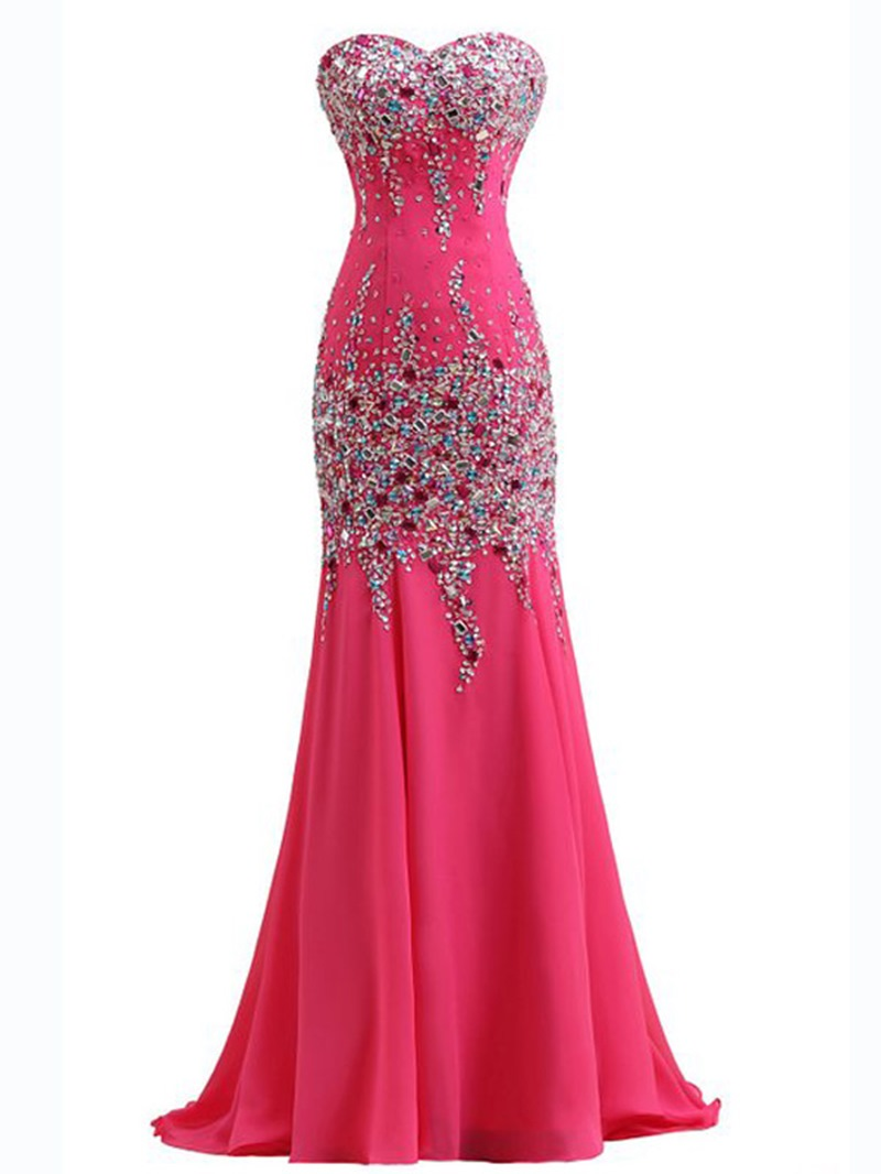 Ericdress Sweetheart Mermaid Floor-Length Evening Dress With Beadings