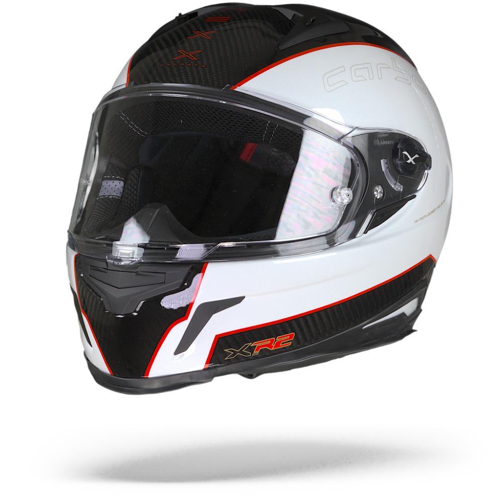 Nexx X.R2 Carbon Casque De Moto Integral Blanc Rouge Noir XL