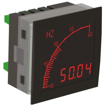 Trumeter APM-FREQ-ANN , LCD Digital Panel Multi-Function Meter for Frequency, 68mm x 68mm
