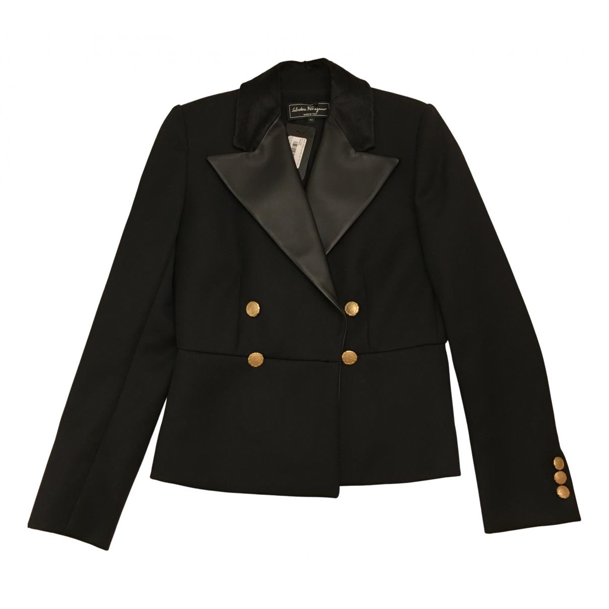 Salvatore Ferragamo \N Black Wool jacket for Women 40 IT