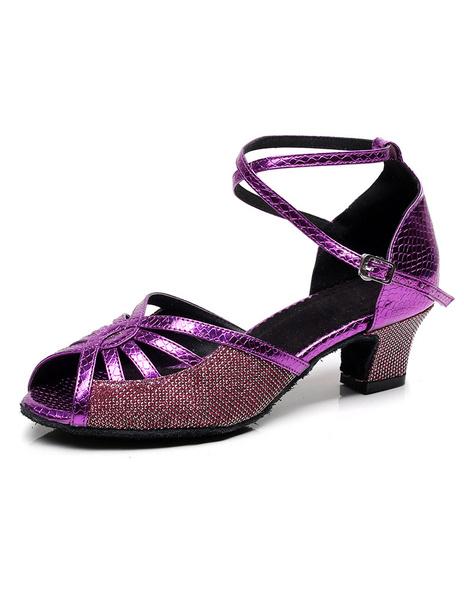 Milanoo Dance Shoes Cut-outs Peep Toe Ballroom Shoes