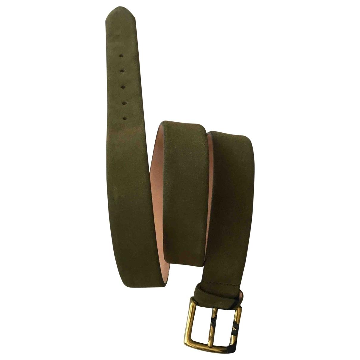Massimo Dutti \N Green Leather belt for Men XL international
