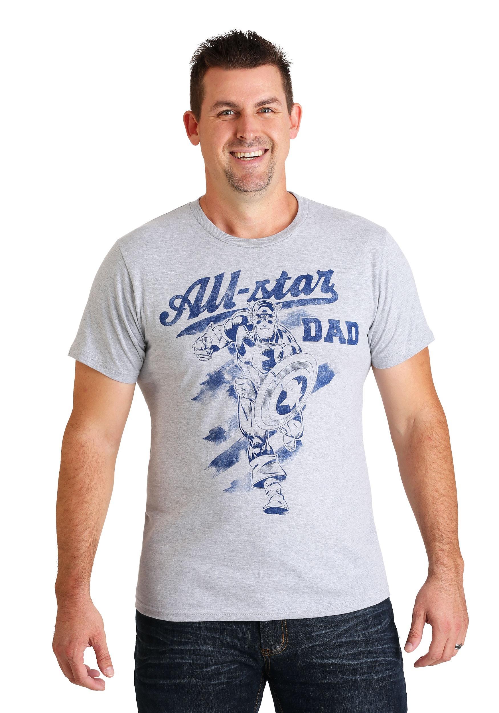 Marvel Captain America All-Star Dad T-Shirt