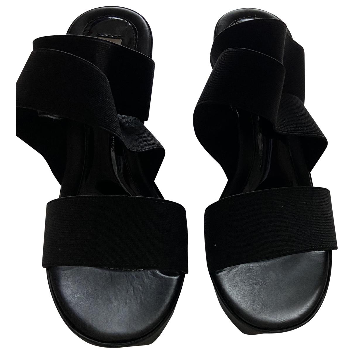 Steve Madden \N Black Rubber Sandals for Women 38 EU