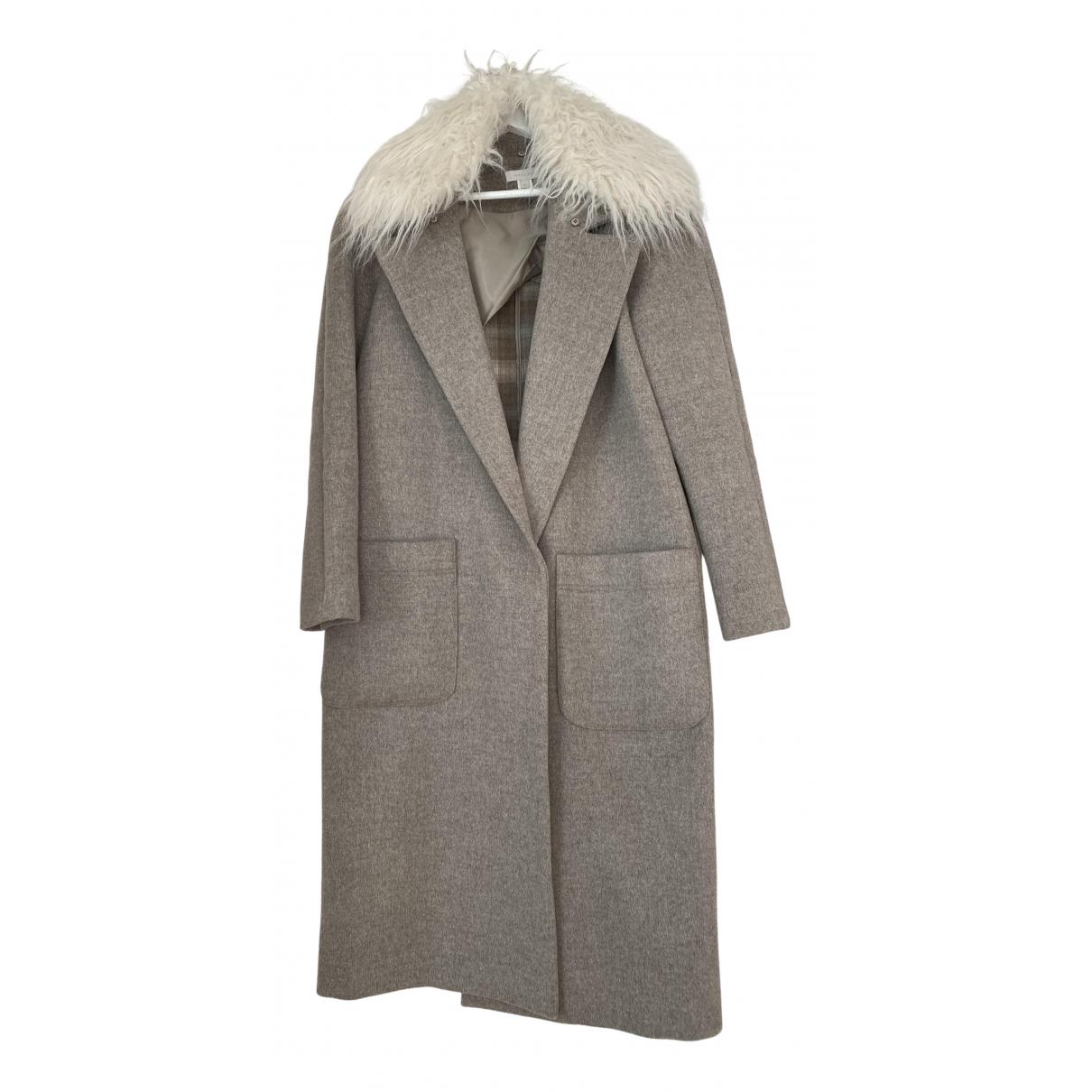 Hoss Intropia - Manteau   pour femme en laine - gris