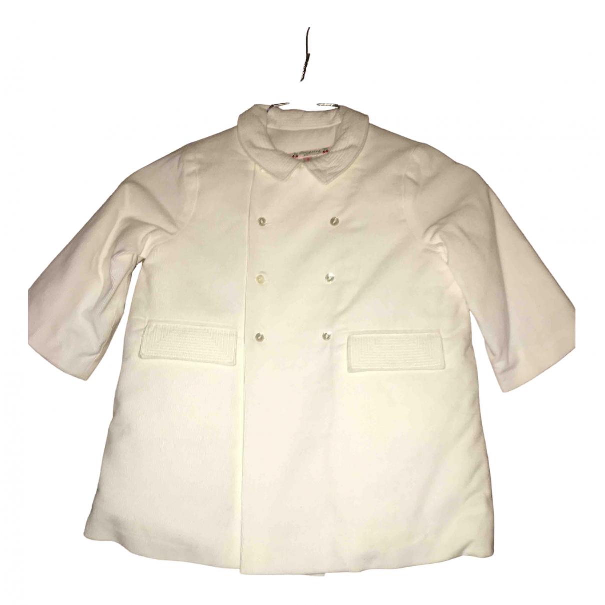 Bonpoint - Blousons.Manteaux   pour enfant en coton - blanc