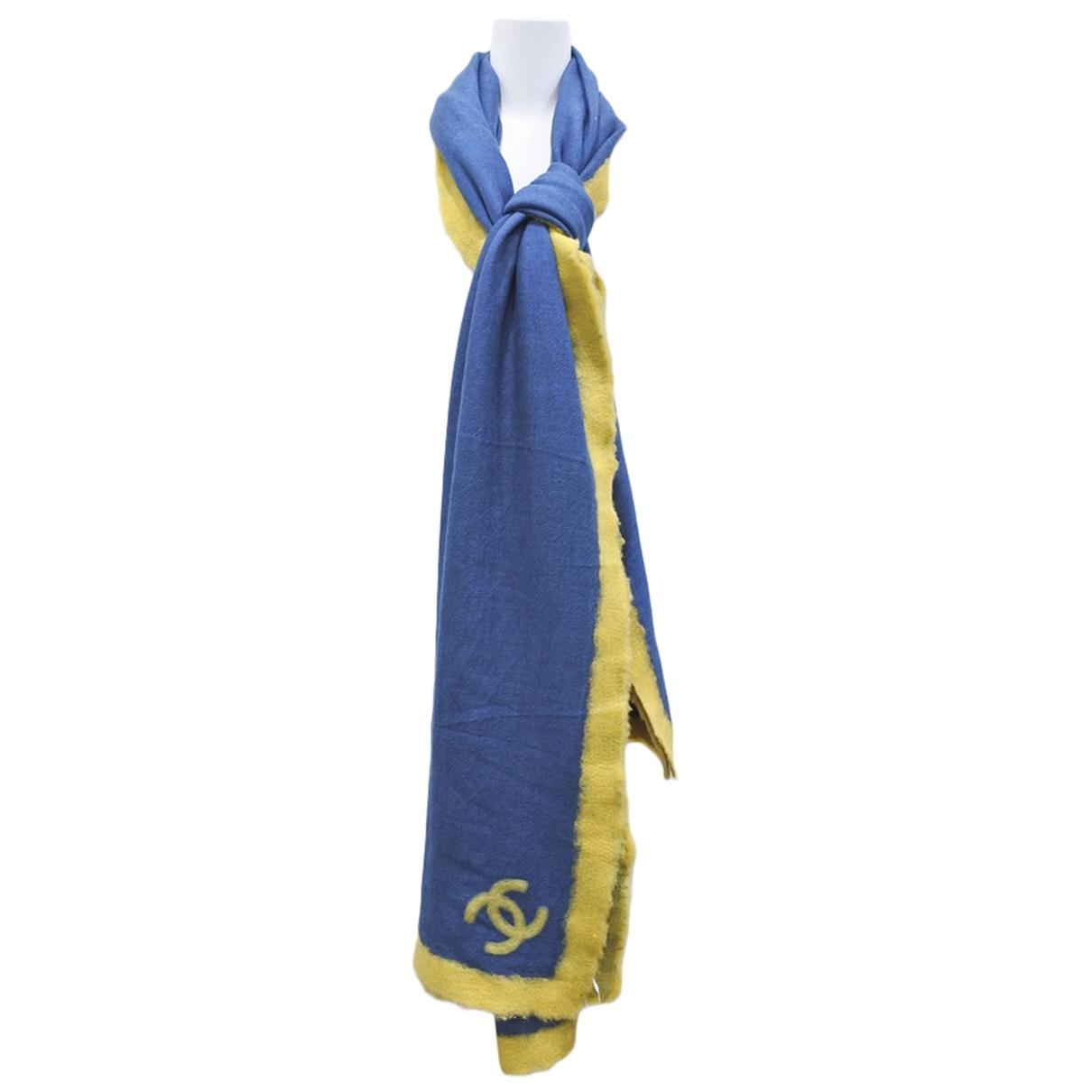 Chanel \N Schal in  Blau Wolle