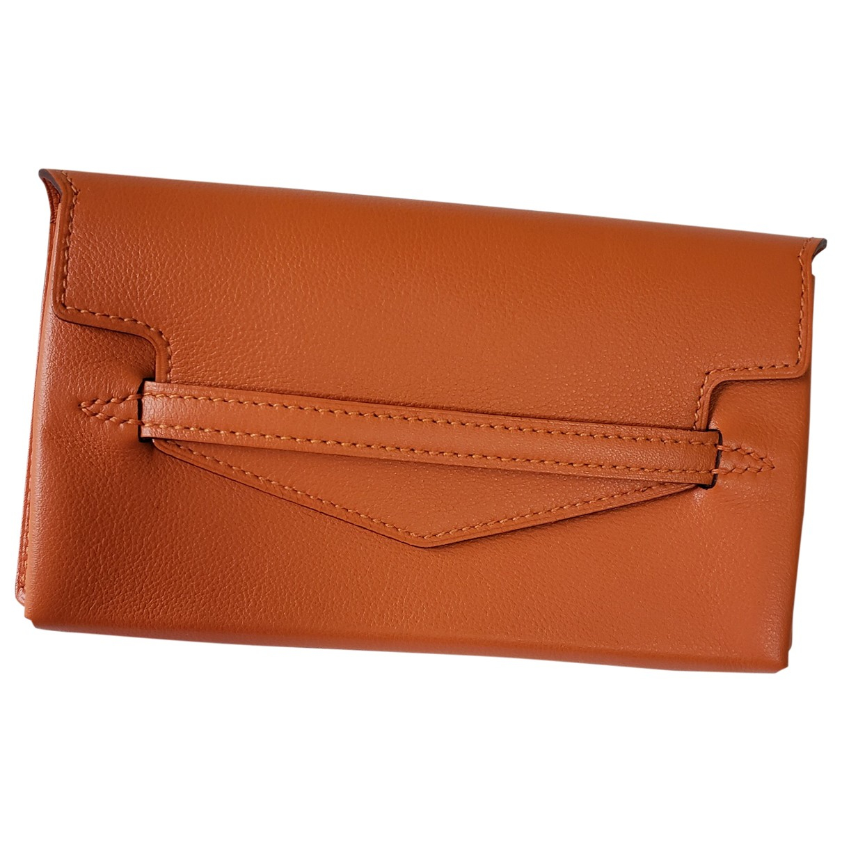 Hermès \N Orange Leather Purses, wallet & cases for Women \N