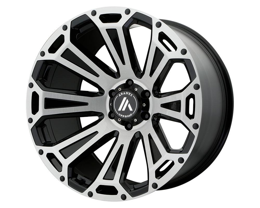 Asanti AB813-221288BB40N Off-Road AB813 Cleaver Wheel 22x12 8x8x180 -40mm Black-Brushed