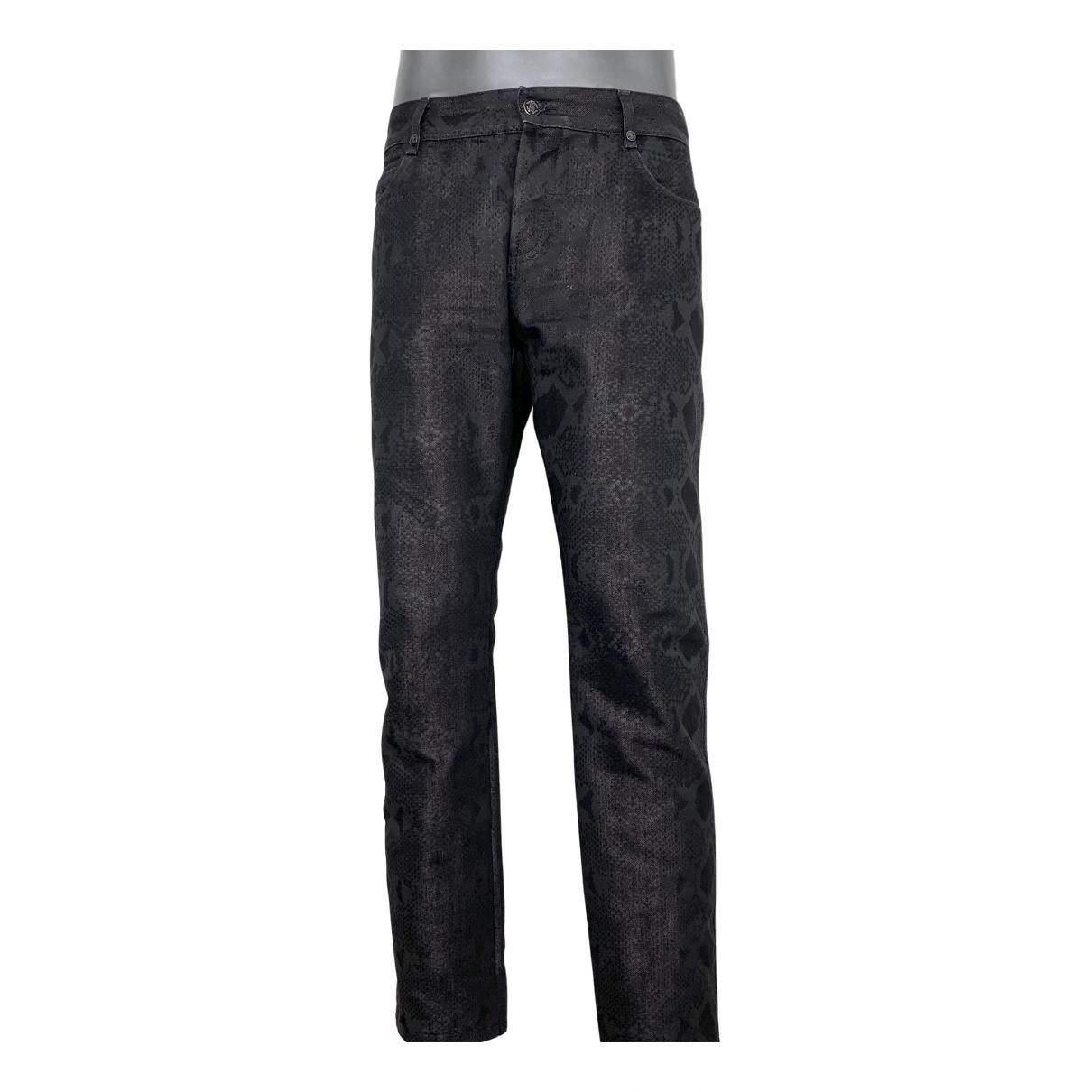 Pantalones en Algodon Negro Roberto Cavalli