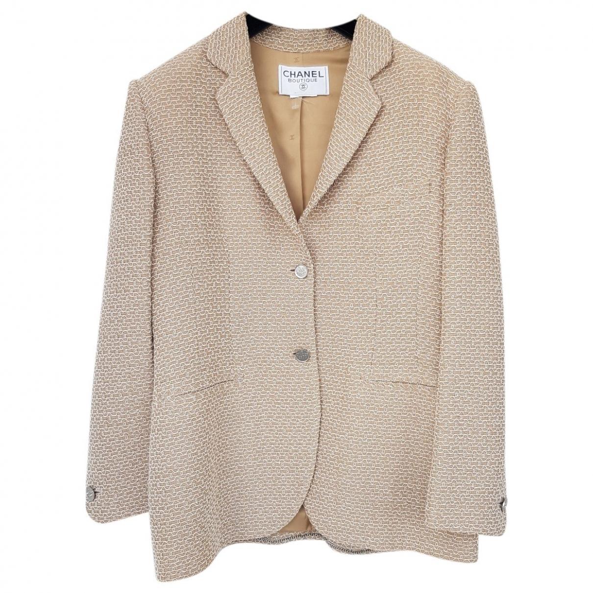 Chanel \N Beige Wool jacket for Women 42 FR