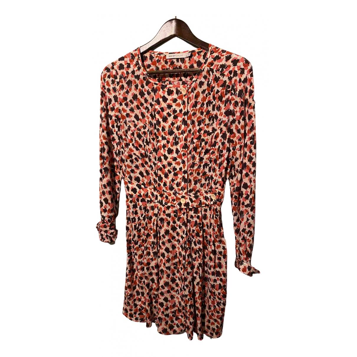 See By Chloe - Robe   pour femme en soie - rose