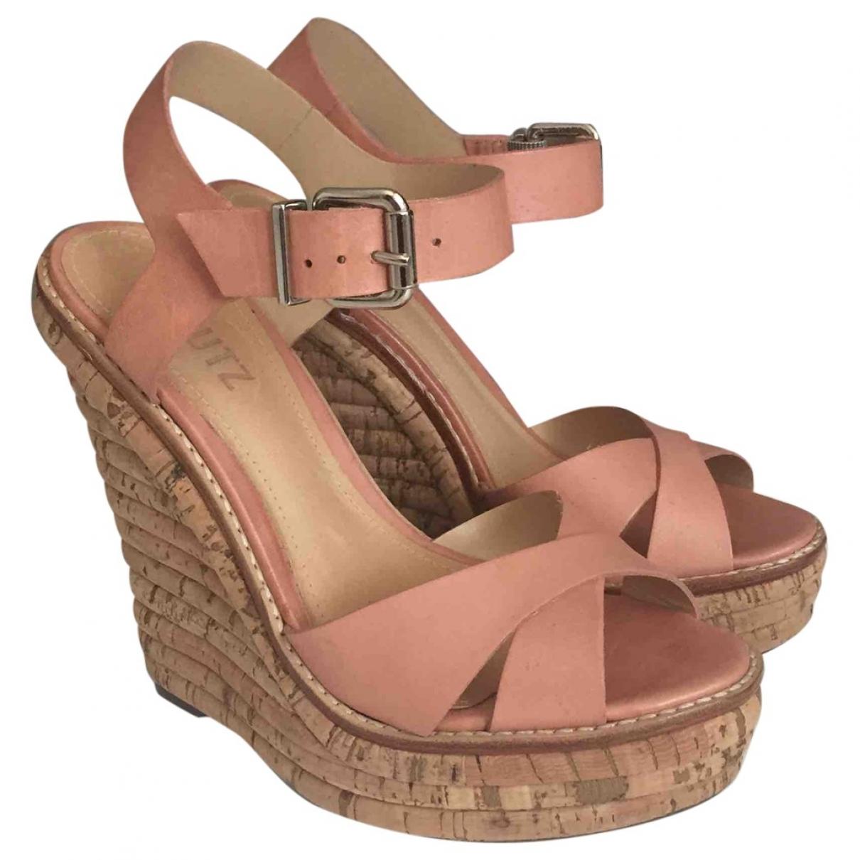 Schutz - Sandales   pour femme en cuir - rose