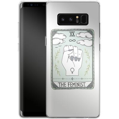 Samsung Galaxy Note 8 Silikon Handyhuelle - The Feminist von Barlena