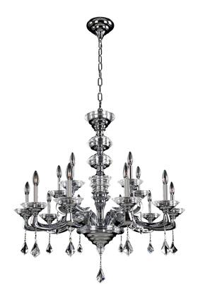 Cosimo 027752-010-FR001 12-Light Chandelier in Chrome Finish with Firenze Clear