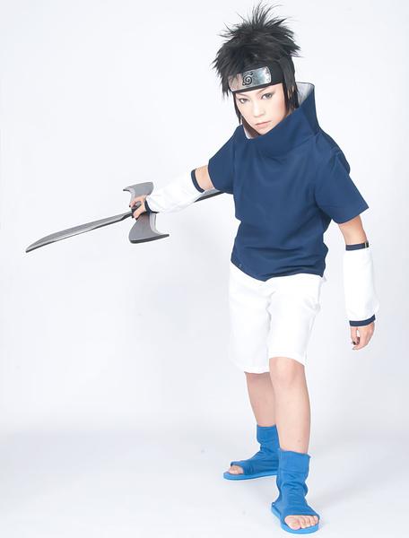 Milanoo Halloween Traje para cosplay de Uchiha Sasuke de Naruto