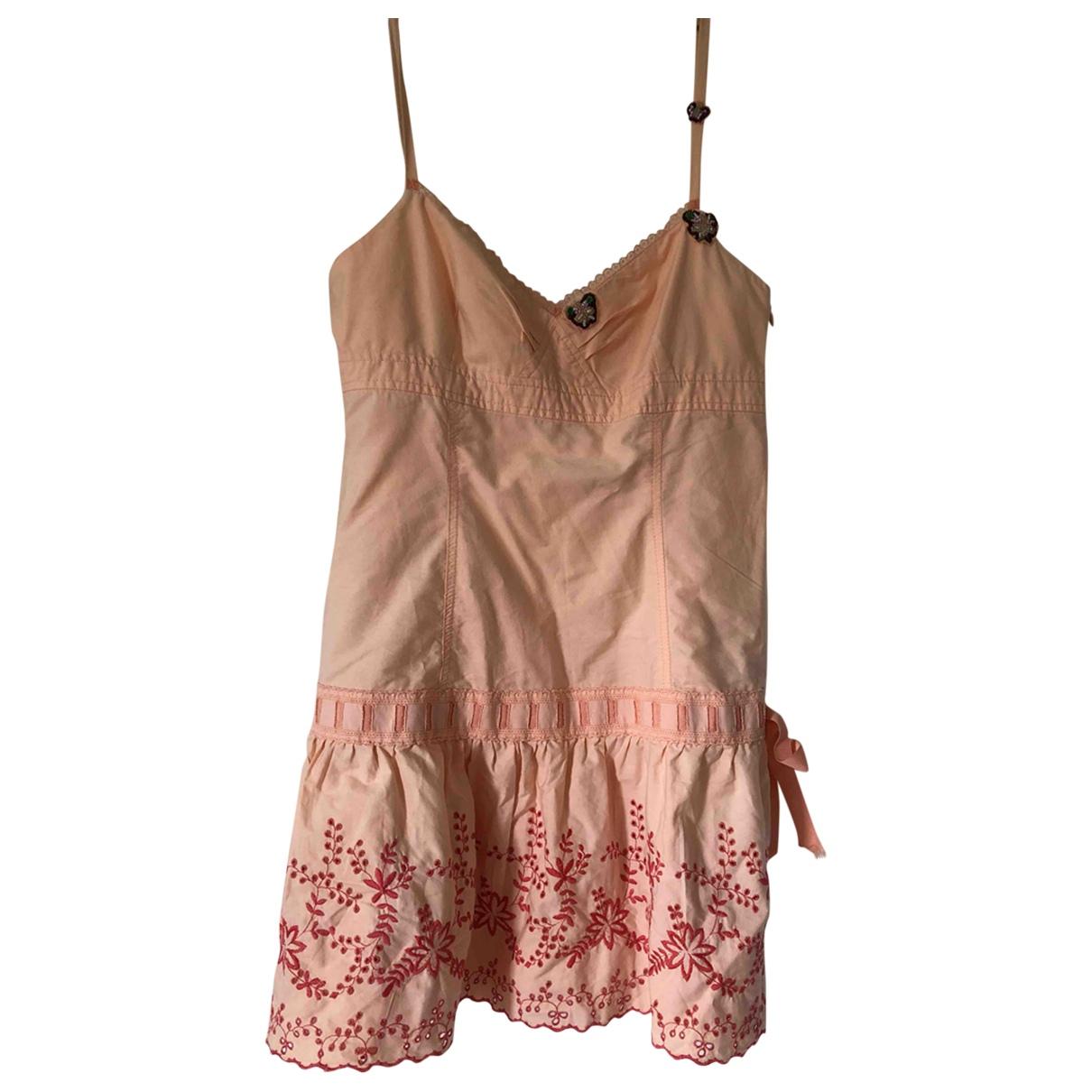 Mango \N Kleid in  Rosa Baumwolle