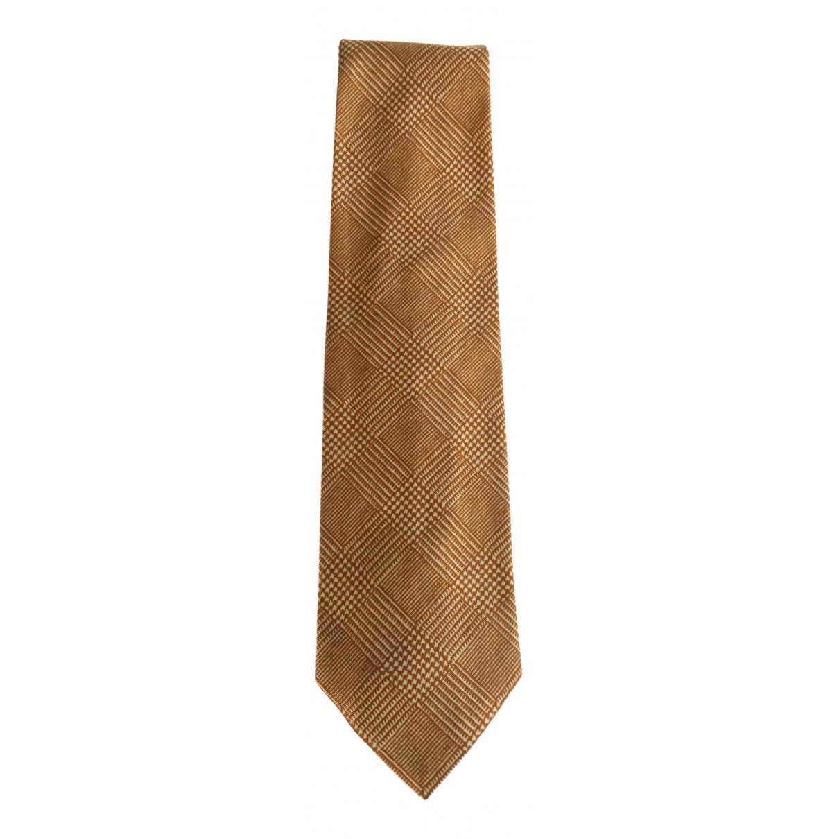 Trussardi - Cravates   pour homme en coton - orange