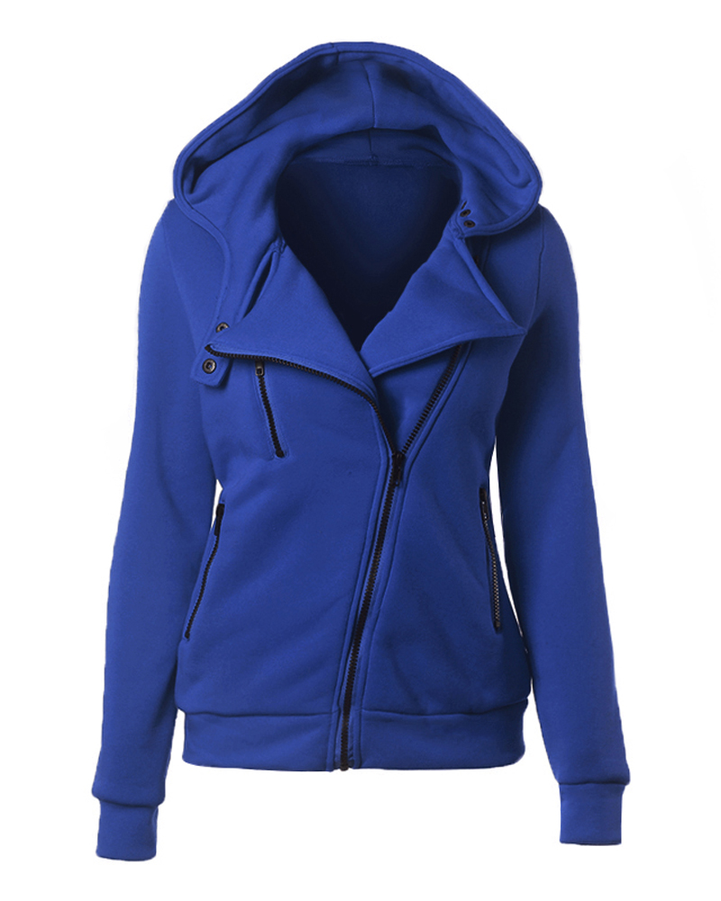 Cotton Zipper Lapel Plain Slim Model Western Style Jacket