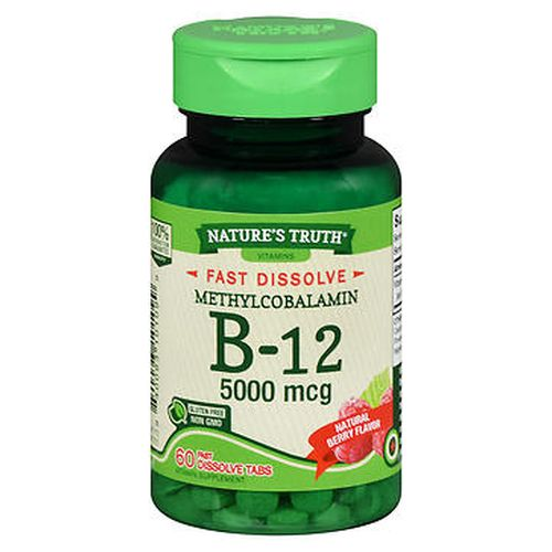 Natures Truth B12 Fast Dissolve Tabs Natural Berry Flavor 60 Tabs by Natures Truth