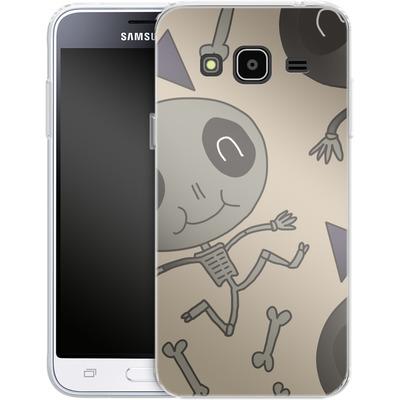 Samsung Galaxy J3 (2016) Silikon Handyhuelle - Cartoon Skeleton von caseable Designs