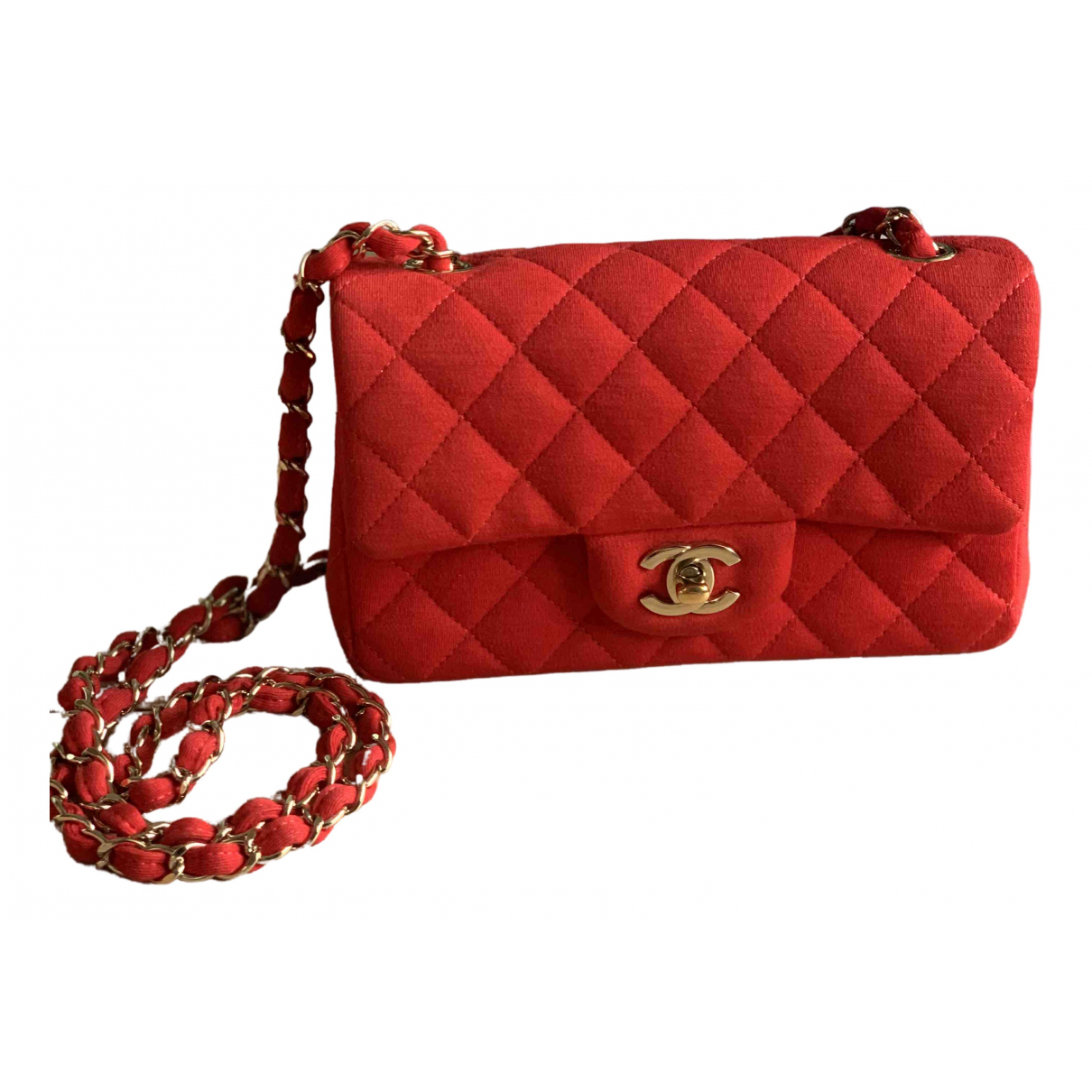 Chanel Timeless/Classique Red Cotton handbag for Women \N
