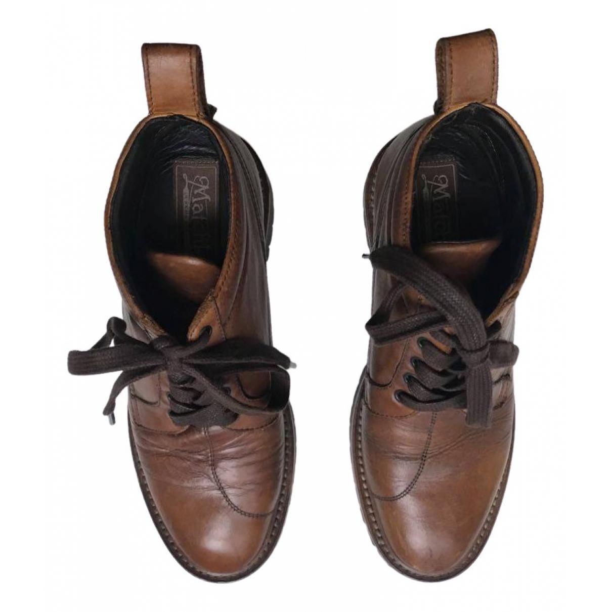 Matchless \N Stiefeletten in  Braun Leder