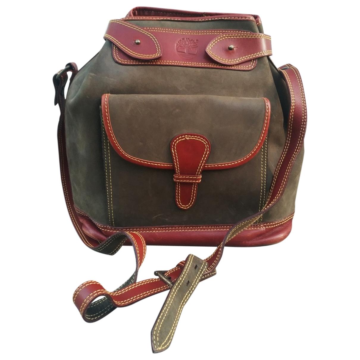 Timberland \N Green Leather handbag for Women \N