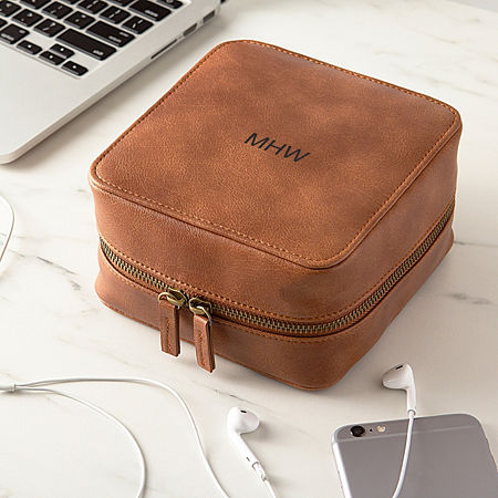 Cathy's Concepts Personalized Tech Case, One Size , Brown