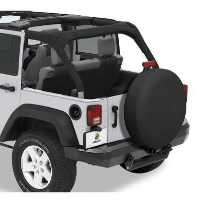 Bestop 33 Inch Spare Tire Cover (Black Denim) - 61033-15