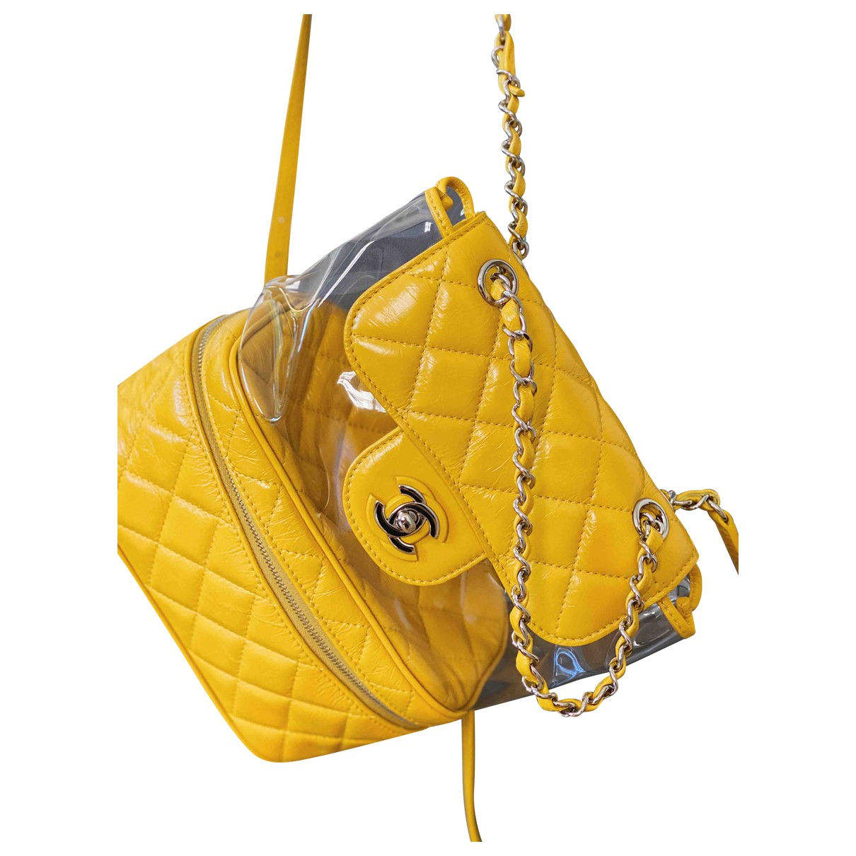 Chanel \N Rucksaecke in  Gelb Lackleder