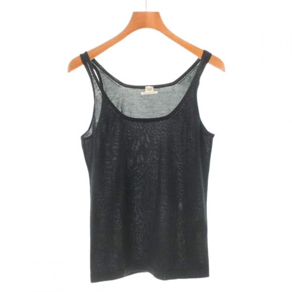 Hermes - Top   pour femme en cachemire - noir