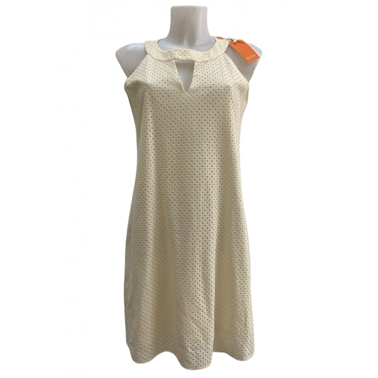 Boss \N Kleid in  Beige Baumwolle