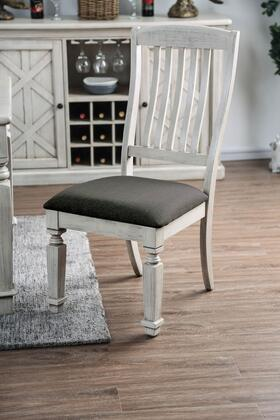 Georgia Collection CM3089SC-2PK Side Chair in Antique White &