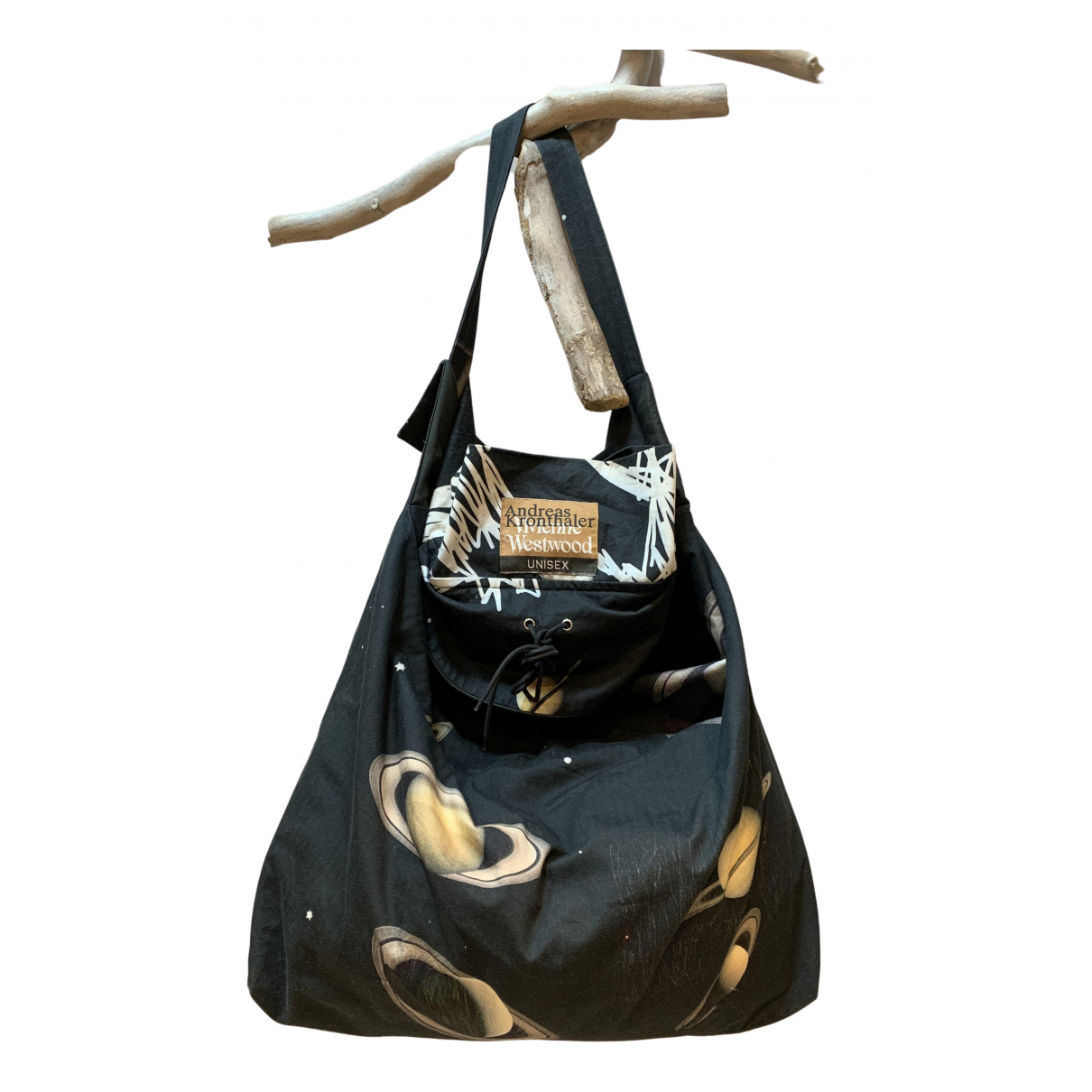 Vivienne Westwood \N Handtasche in  Schwarz Leinen