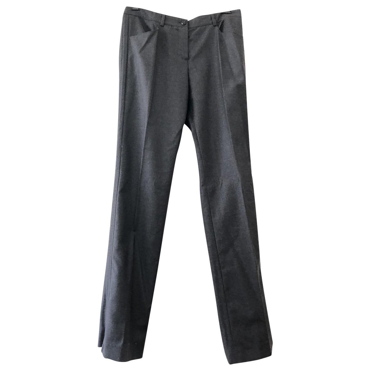 Chanel \N Grey Wool Trousers for Women 40 FR