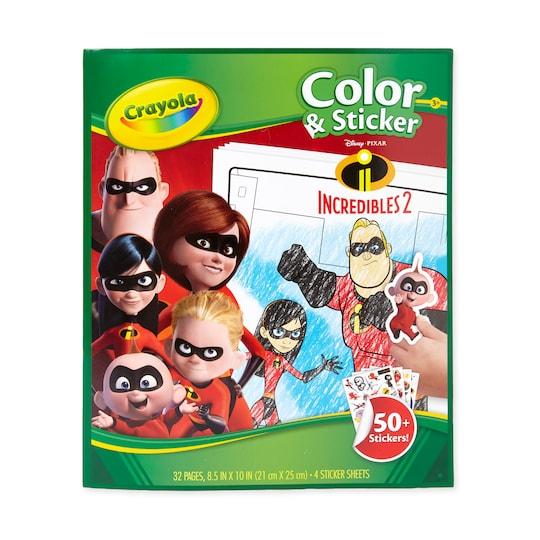 Crayola® Color & Sticker Book, Incredibles 2   Michaels®