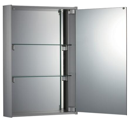 WHKEM-23 Vertical Double Faced Mirrored Door Medicine Cabinet With Two Adjustable Glass Shelves And Mirror Faced Back Wall.