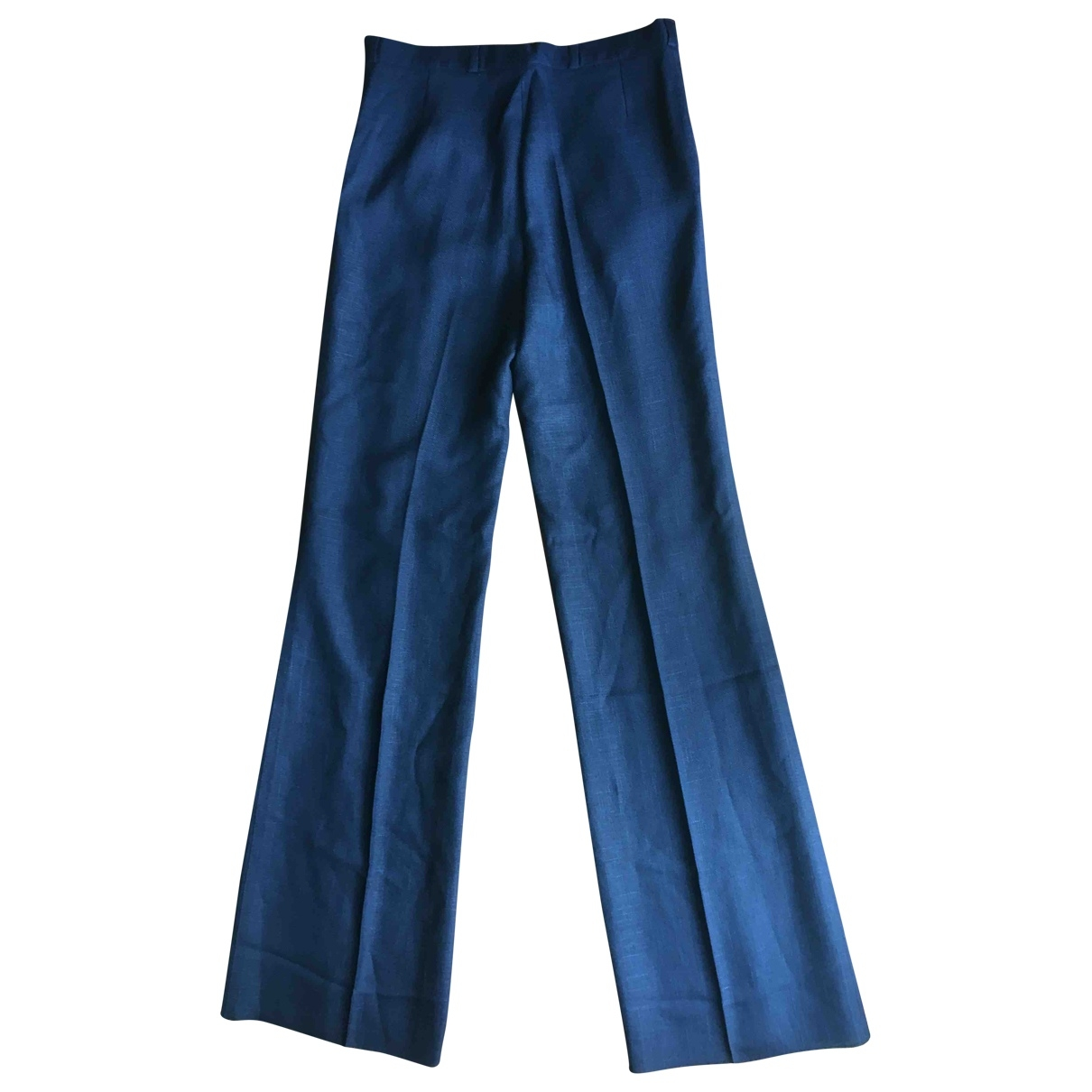 Non Signé / Unsigned \N Blue Linen Trousers for Women 40 IT
