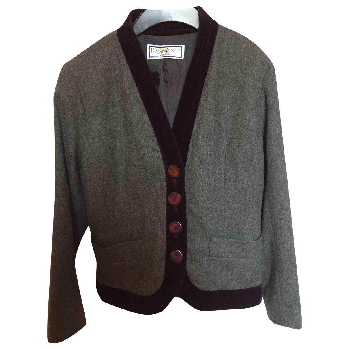 Yves Saint Laurent \N Grey Wool jacket for Women 40 IT