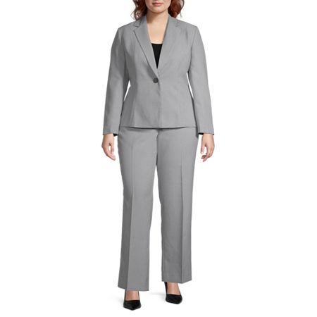 Le Suit Pant Suit-Plus, 24w , Gray