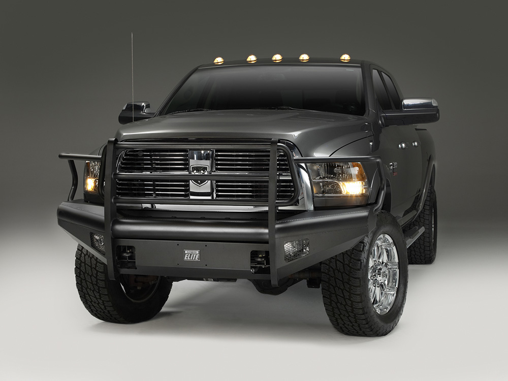 Fab Fours DR06-Q1160-1 06-09 Dodge HD Front Elite Ranch Bumper w/Full Guard (2500 - 5500) w/Tow Hooks Bare