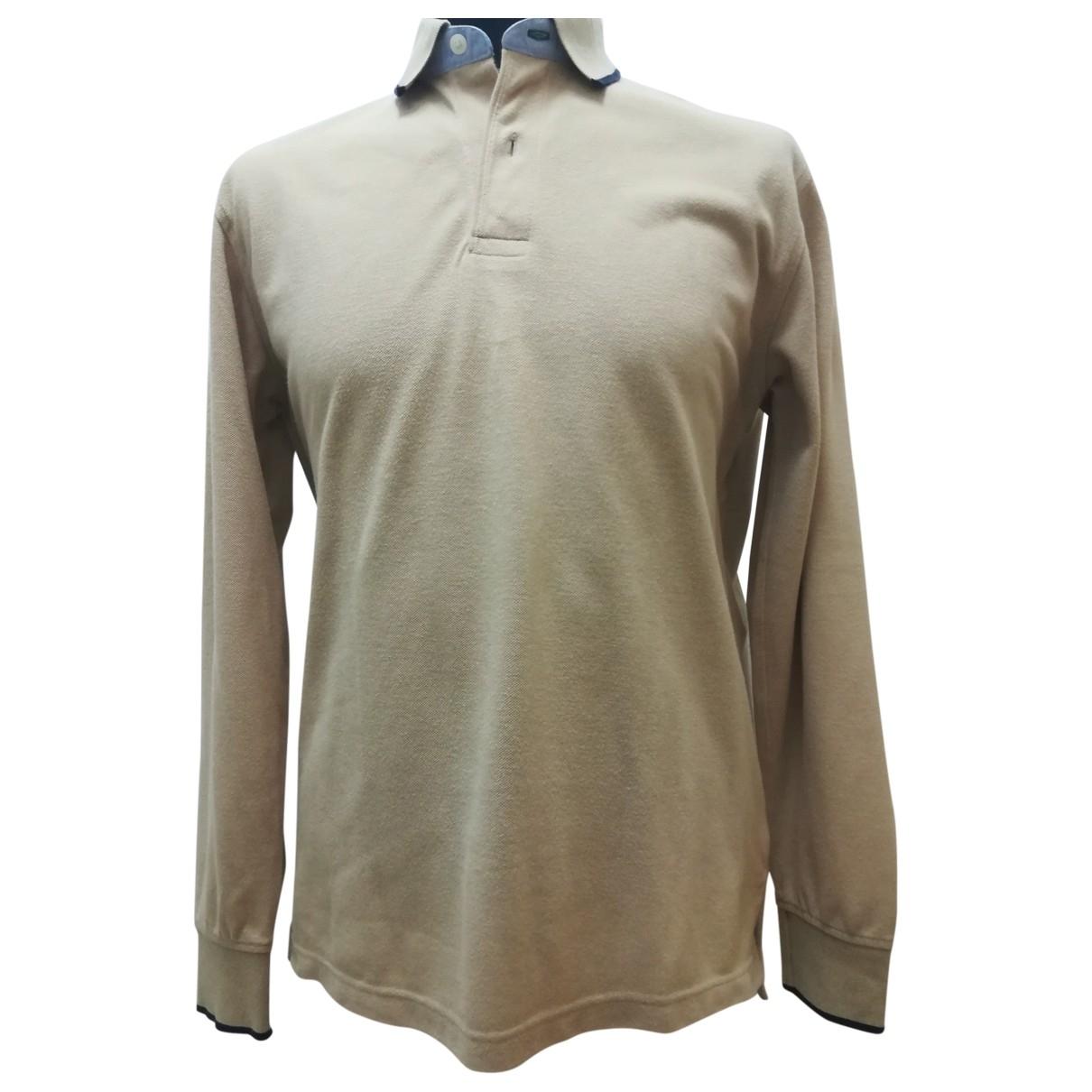 Tommy Hilfiger - Polos   pour homme en coton - beige